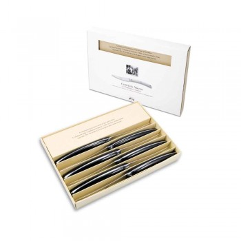 6 couteaux de table Convivio Nuovo Berti exclusivement pour Viadurini - Alifano