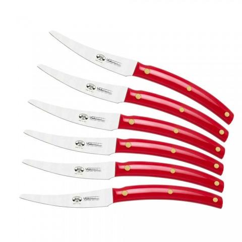 6 couteaux de table Convivio Nuovo Berti exclusivement pour Viadurini - Alserio