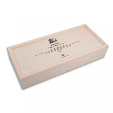 6 couteaux à lame lisse Berti Plenum exclusifs pour Viadurini - Andalo