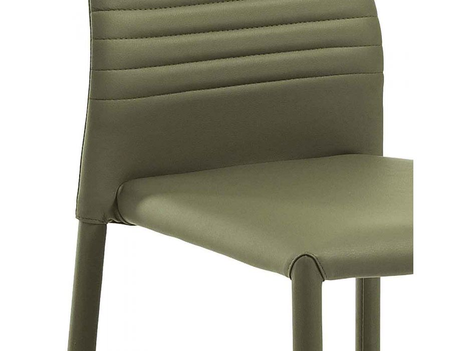 6 chaises empilables au design moderne en similicuir coloré pour salon - Merida