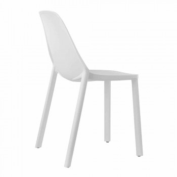 6 chaises empilables modernes en technopolymère Made in Italy - Scab Design Più