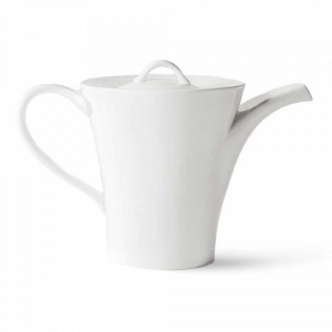 6 tasses à café en porcelaine avec cafetière et sucrier - Romilda