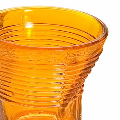 6 verres à café froissés en verre design coloré - Sarabi