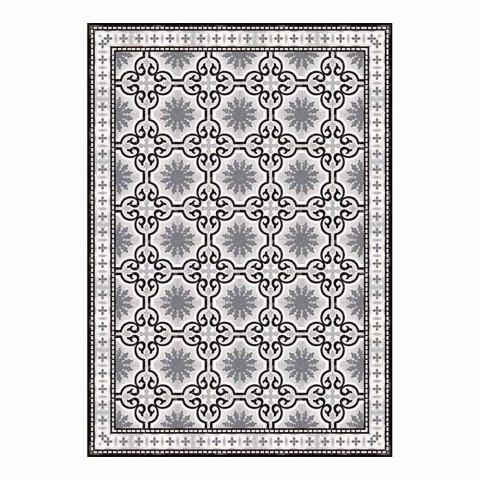 6 sets de table américains lavables à motifs en PVC et polyester - Coria