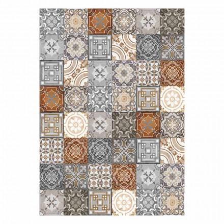 6 sets de table rectangulaires design américain en PVC et polyester - Dimetra