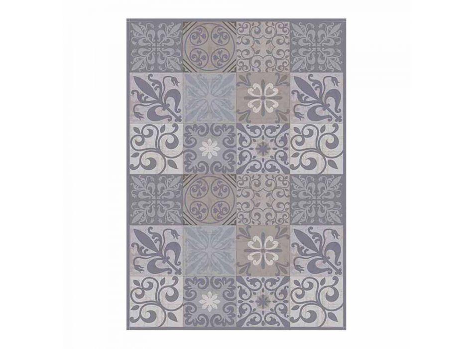 6 sets de table élégants en Pvc et polyester avec motif noir ou gris - Pita
