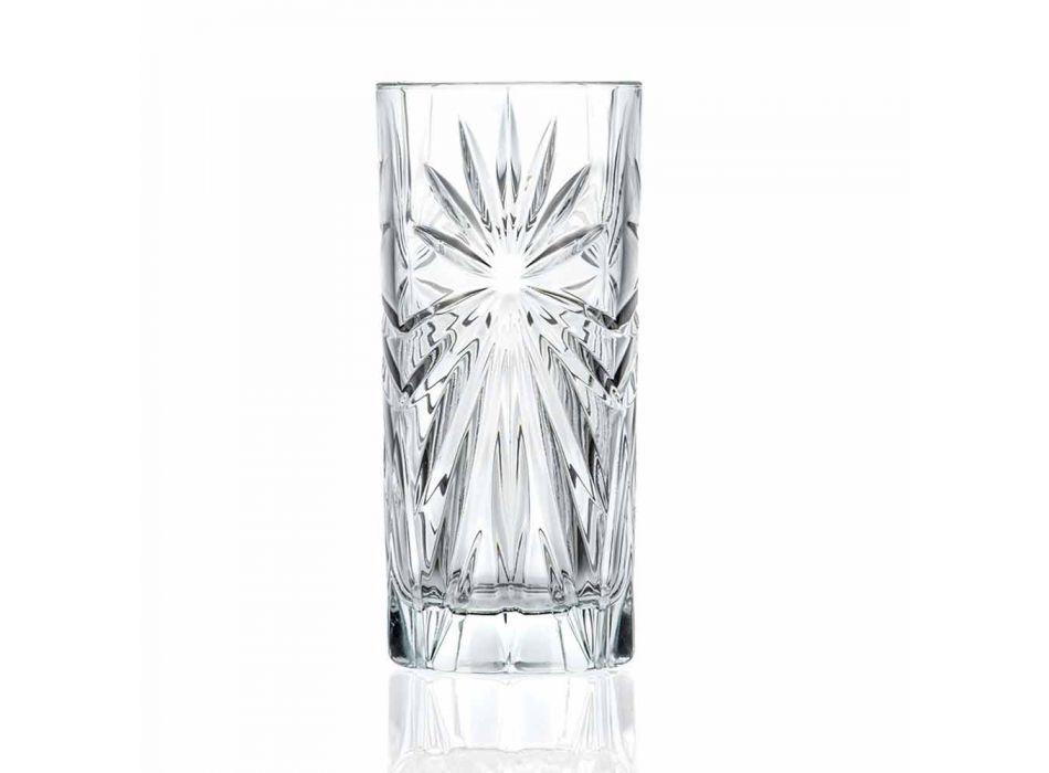 8 verres hauts Highball Tumbler pour cocktail en cristal écologique - Malgioglio