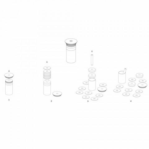 Accessoires Apéritif Instruments à Cocktail en Marbre, Bois et Acier - Norman