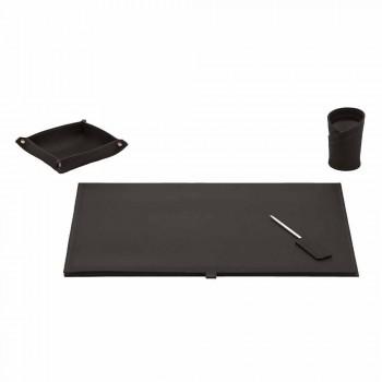 Accessoires de bureau en cuir régénéré 4 pièces Made in Italy - Aristote