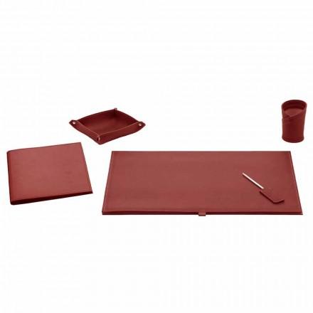 Accessoires de bureau pour bureau en cuir reconstitué, 5 pièces - Aristote