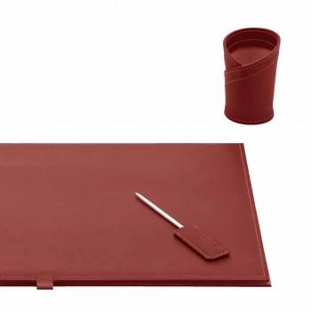 Accessoires de bureau en cuir régénéré 5 pièces Made in Italy - Aristote