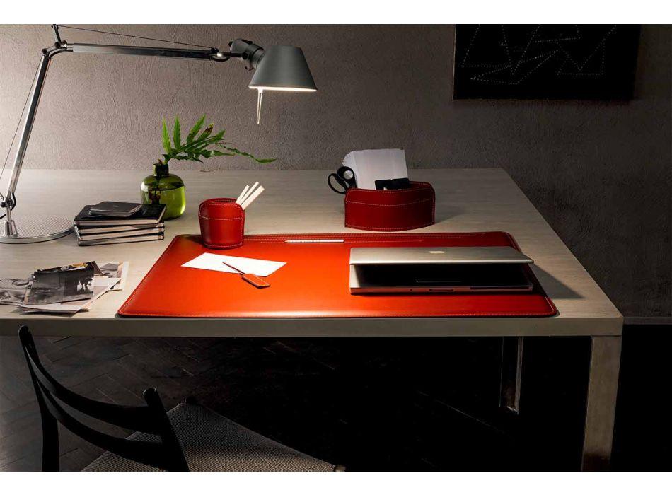 Accessoires de bureau en cuir régénéré 4 pièces Made in Italy - Ebe