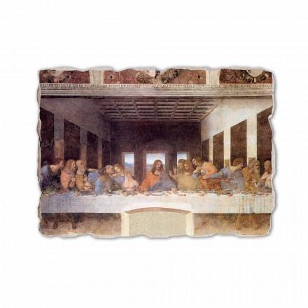 Fresque La Cène de Léonard de Vinci, peinte à la main