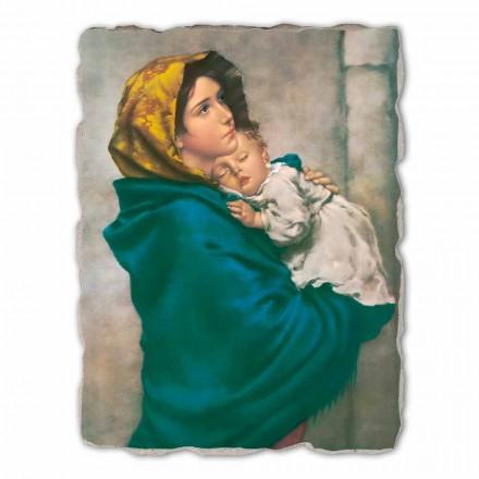 Fresque grande Madonnina de Ferruzzi, peinte à la main