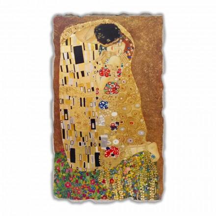 Fresque grande Le Baiser de Klimt, peinture à fresque