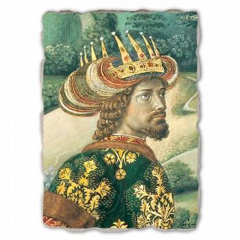 "La grande fresque Gozzoli Procession des Mages avec le roi Melchior """