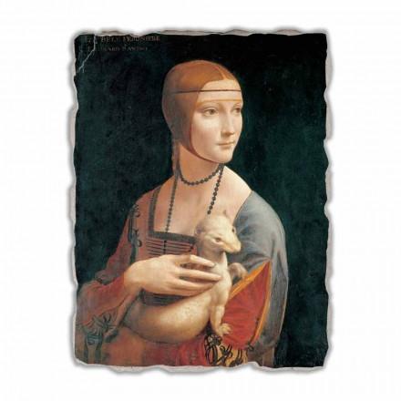Fresque grande La Dame à l'hermine de Léonard de Vinci