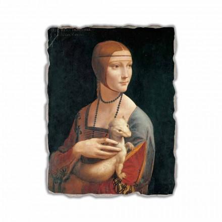 Fresque La Dame à l'hermine de Léonard de Vinci