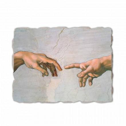 Fresque La Création d'Adam de Michel-Ange (détail)