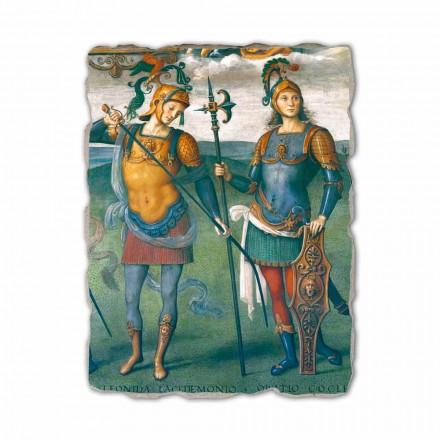 Fresque Force et Tempérance avec six héros antiques de Pérugin