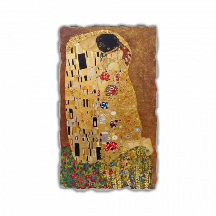 Fresque Le Baiser de Klimt, peinture à fresque
