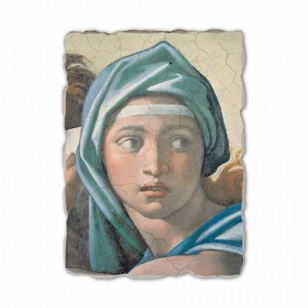 Fresque La Sibylle Délphique de Michel-Ange, peinte à la main