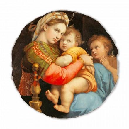 Fresque La Vierge à la chaise de Raphaël, peinte à la main