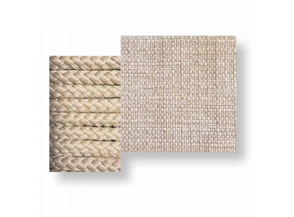 Balançoire de jardin design moderne en tissu et corde - Cliff par Talenti