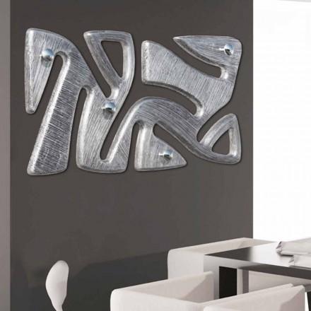 Porte manteau mural moderne avec décoration en feuille d'argent Holt