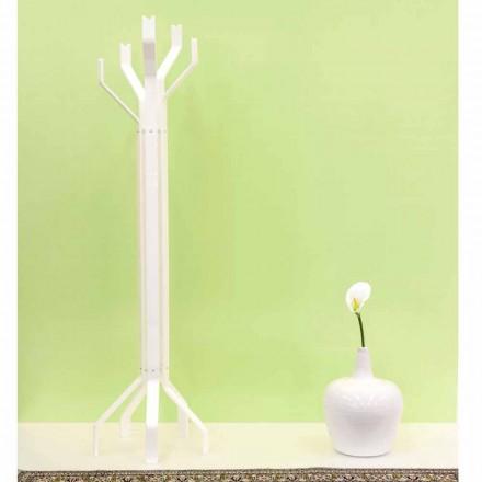 Portemanteau de design moderne blanc avec 5 crochets Andrea