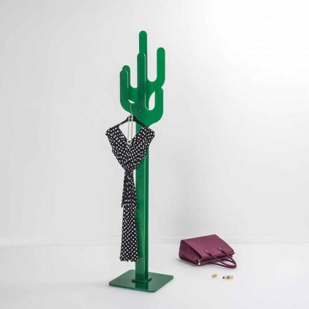 Portemanteau de design moderne vert Cactus, fait en Italie