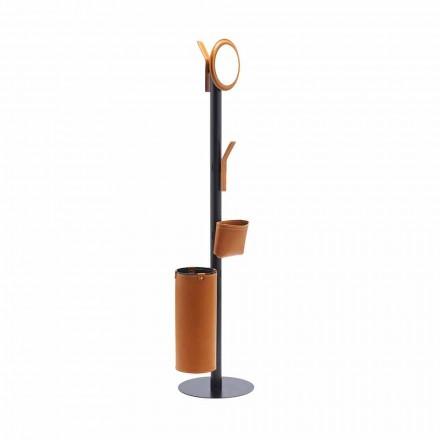 Portemanteau Design Moderne en Cuir Régénéré Made Italy - Ercole
