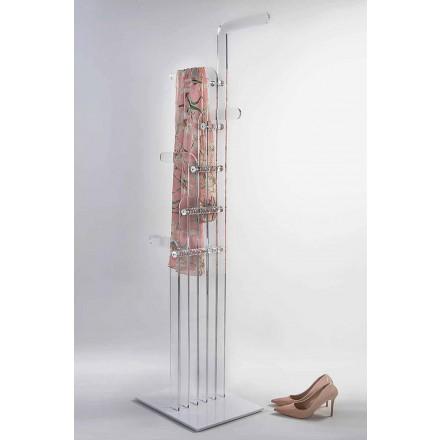 Porte-manteau moderne moulé en cristal acrylique, Elva