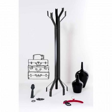 Portemanteau de design moderne noir avec 5 crochets Andrea