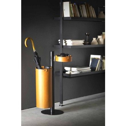 Cintre en cuir design moderne fabriqué en Italie - Adelfo