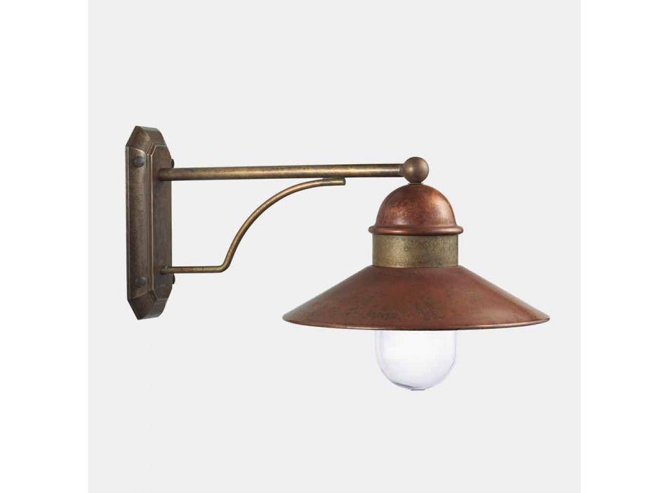 Applique d'Extérieur Vintage en Laiton, Cuivre et Verre - Borgo par Il Fanale