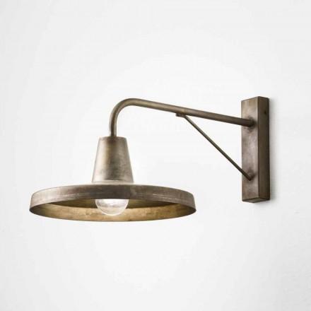Luminaire applique fer vieilli de design industriel Sally Il Fanale