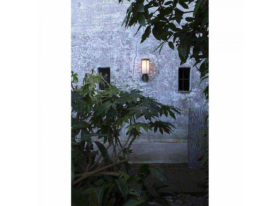 Applique d'Extérieur en Laiton et Verre Blanc - Loggia par Il Fanale