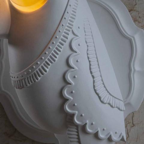 Applique murale en céramique blanche mate design italien moderne - Tucano