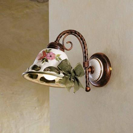 Applique faite en céramique de style rustique Napoli par Ferroluce