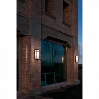 Applique Murale Vintage avec 2 Lumières en Laiton et Plexiglas - Quadro par Il Fanale