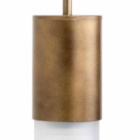 Applique Artisan en Aluminium et Verre Satiné Made in Italy - Master