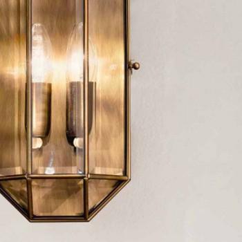 Applique murale artisanale en verre et laiton 1 ou 2 lumières - Bound par Il Fanale