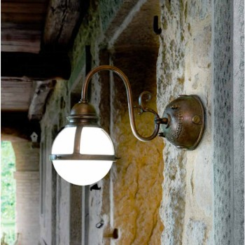 Mur d'étanchéité laiton antique et verre soufflé