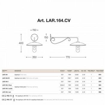 Appliques en verre Lear cuivre, aluminium et laiton