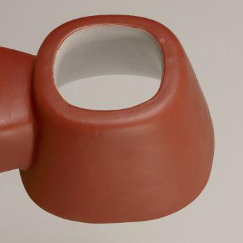 Applique d'extérieur artisanale en majolique toscane Made in Italy - Toscot Tobo
