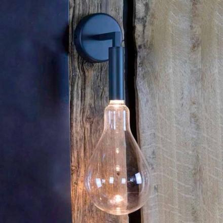 Applique d'extérieur en fer et aluminium avec LED incluse Made in Italy - Luccico