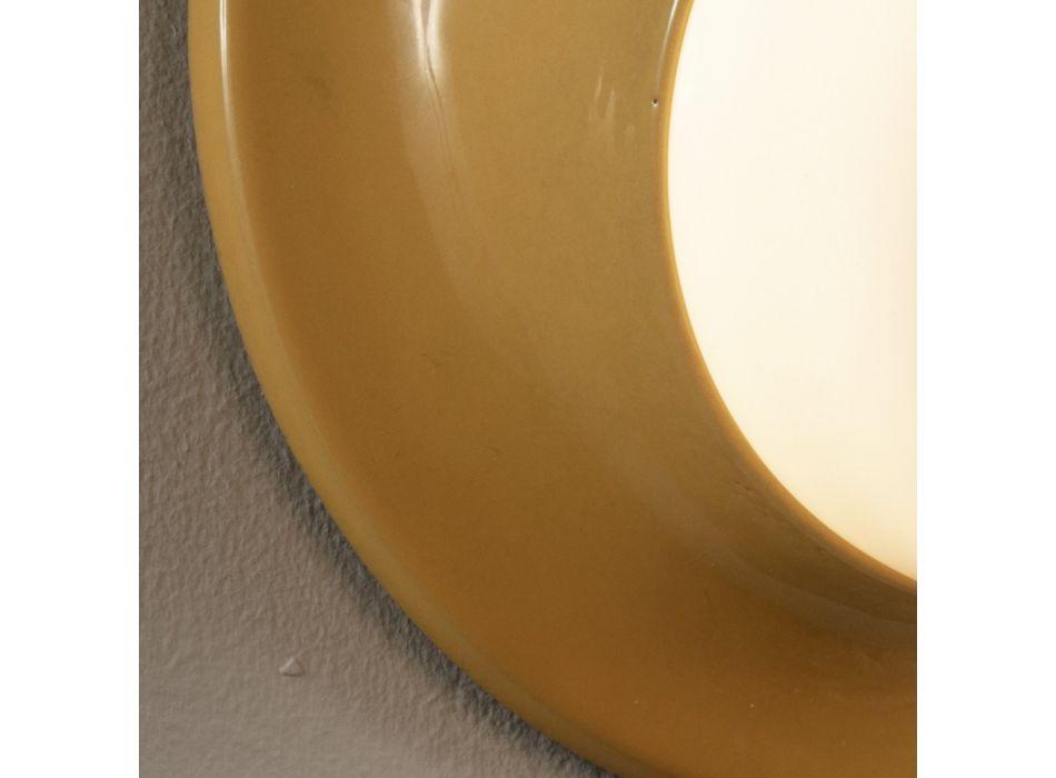 Applique d'extérieur en majolique et verre soufflé Made in Italy - Toscot Swinger