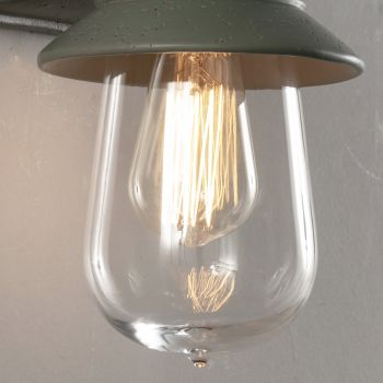 Applique d'extérieur en majolique toscane et verre Made in Italy - Toscot Novecento