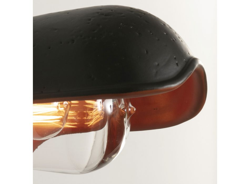 Applique d'extérieur en faïence toscane fabriquée à la main en Italie - Toscot Bistrò